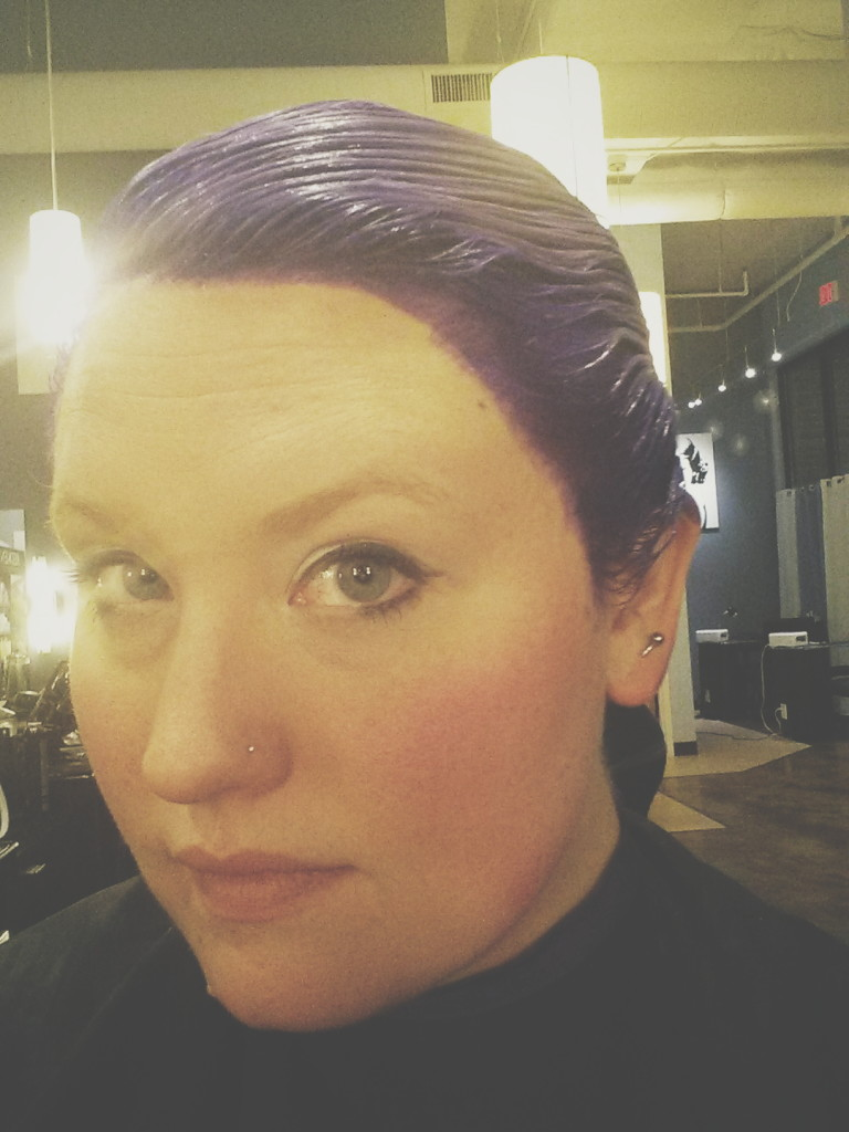 Magical Purple Hair - Transition in Pictures. Hair by Ivana at Hybrid Salon